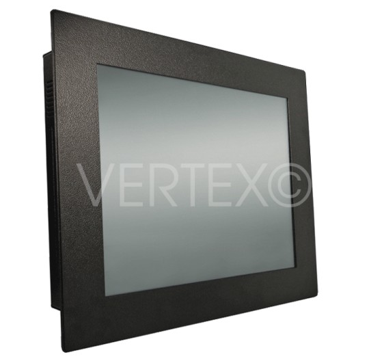 "15"" Lizard Panel-Mount-PC, in RAL9005, frontal geschützt nach IP65"
